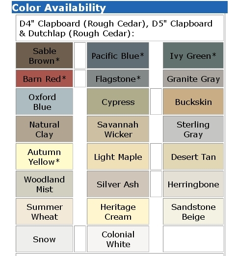 Mastic vinyl siding color chart 2015 home design ideas for Comparison of composite decking brands